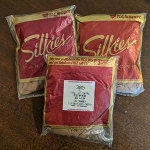 Set of 3 vintage silkies nude tlc pantyhose